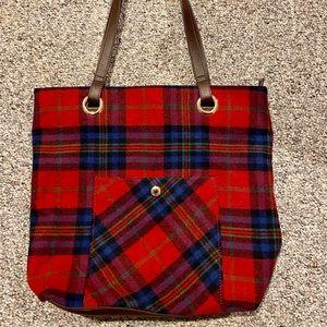 Talbots flannel bag